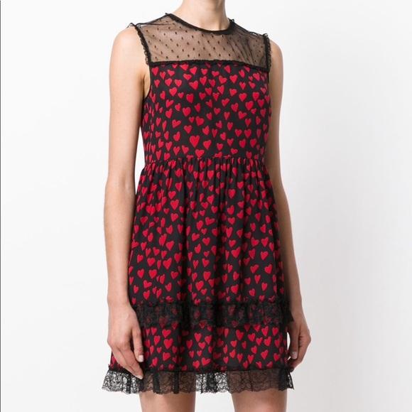 Red Valentino Silk Lace Dress